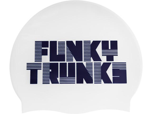 Funky Trunks Silicone Swimming Cap Uomo, bianco